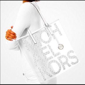 Michael Kors Transparent Graphic Tote